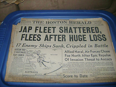May 9,1942  Boston Herald newspaper The Battle of the Coral Sea