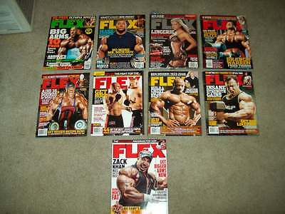 9 FLEX MAGS 2005-14 WEIDER bodybuilding crossfit FITNESS physique workout