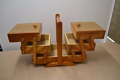 Cantilever Sewing Box Wooden Healesville Furn Product