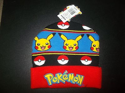 Pokemon Unisex One Size Fits All Winter Ski Hat Cap Nwt $25