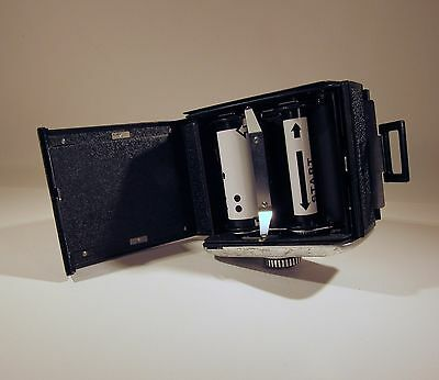 ROLLEI 120/220 6x6 FILM BACK SL66 + MATCHING CASSETTE + COVER - PARTS / REPAIR 2
