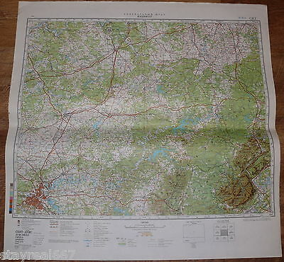Authentic Soviet USSR Military Topographic Map Nashville, Tennessee, USA #62