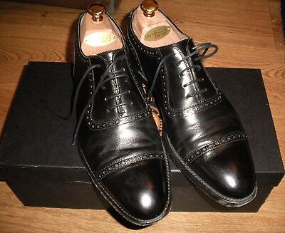 Cheaney Fenchurch Mens Oxford in Black Calf Leather Sole UK7  VGC