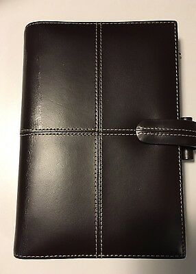 Genuine FILOFAX Classic  Personal Organiser Chocolate Brown Italian  Leather