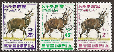 Ethiopia. 2000. Bushbuck. Three Values Used.