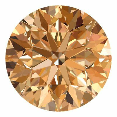 1.3 MM CERTIFIED Round Champagne Color VS 100% Real Loose Natural Diamond #B