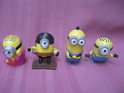 MCDONALDS HAPPY MEAL TOYS 4 x MINIONS