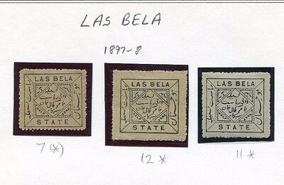 India State Stamps 37 - Las Bela