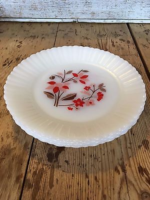4 Milk glass Mexico 23cm vintage dinner plates