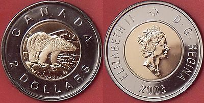 Proof Like 2003 Canada Crowned 2 Dollars From Mint's Set