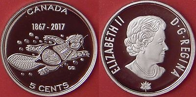Proof 2017 Canada Living Traditions Silver 5 Cents From Mint's Set