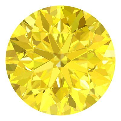 2.3 MM CERTIFIED Round Fancy Yellow Color VS 100% Real Loose Natural Diamond #H