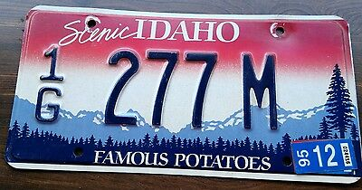 1995 scenic Idaho motor home license plate from gem county