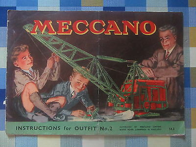 Meccano Instructions for Outfit No.2 No. 54.2