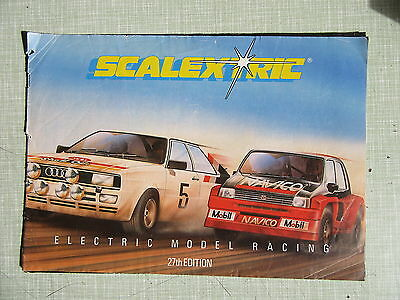 SCALEXTRIC CATALOGUE 27th EDITION 1986