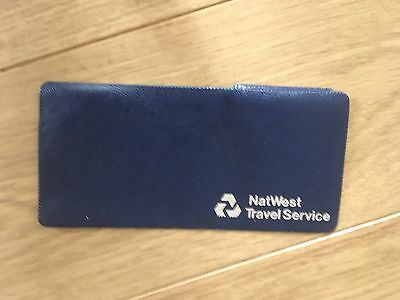VINTAGE CHEQUE NATWEST TRAVEL SERVICE HOLDER  TRAVEL CHEQUES Wallet Navy blue