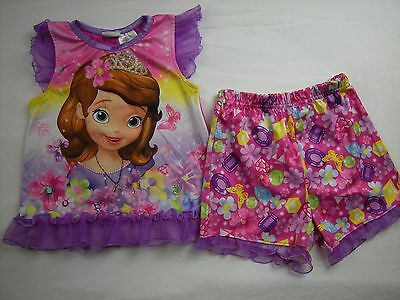 Toddler Girl size 4T Pink Purple Two piece Pajamas Pjs Sophia the First DISNEY