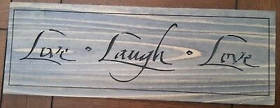 LIVE LOVE LAUGH Sign Beach House Country Prim Lake Cabin Rustic Wood  Decor