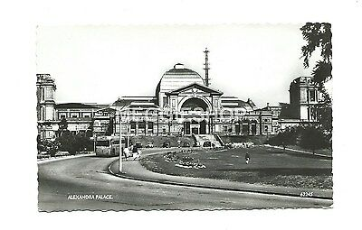 London : Hornsey : Alexandra Palace Vintage Real Photo Postcard - Bus