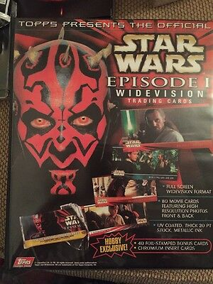 Collection Of Star Wars Episode 1 Trading Cards Topps Ikon Widevision
