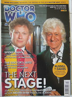 Dr Who Issue 341 March 31st Magazine 2004 Panini