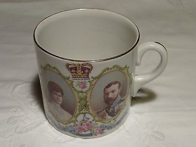 Royal Commemorative Mug For Visit King George V Queen Mary - Stoke On Trent 1913