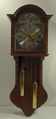 "VINTAGE HOWARD MILLER ""BARWICK"" WALL CLOCK 2732 ~ 39"" Tall Westminster Chime"