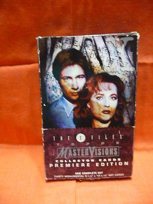 THE X-FILES Topps Master Vision Collector Cards Premiere Edition Set LARGE SIZE