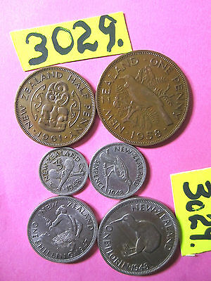 6 x  Assorted COINS from  N.Z. 37gms   Mar3029