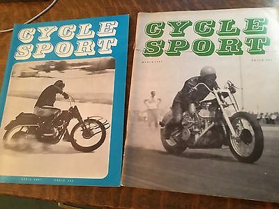 March and April 1967 Cycle Sport Magazines
