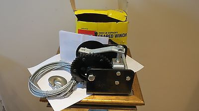 2000 lb Manual Work Winch Item #5798 central forge 3/16 x 25' feet cable 1 ton