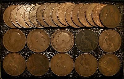 GREAT BRITAIN ~ Lot 25 Large Penny ~ 1884 to1967 ~ **** FREE SHIPPING ****