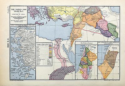 1905 map 1000 Years BC First Assyrian Empire Greek Colonies Israel Judah 925 5