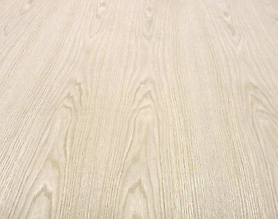 """Red Oak wood veneer sheet 48"""" x 144"""" with wood backer 1/25th"""" thick """"A"""" grade"""
