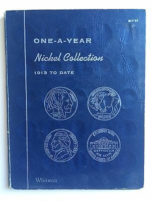 ONE-A-YEAR NICKEL COLLECTION - 1913 TO DATE - Whitman Folder w/ Coins