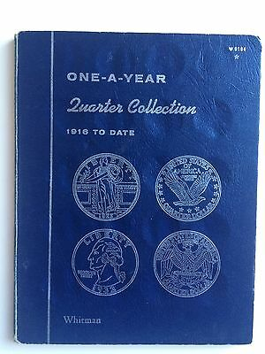 ONE-A-YEAR QUARTER COLLECTION - 1916 TO DATE - Whitman Folder w/ Coins