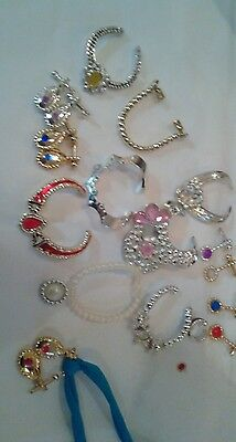 Vintage Barbie Jewelry Superstar era Mixed Lot Includes Red Ring