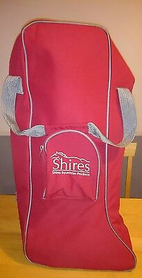 Shires equestrian Red Long Riding Boot Bag new without tags