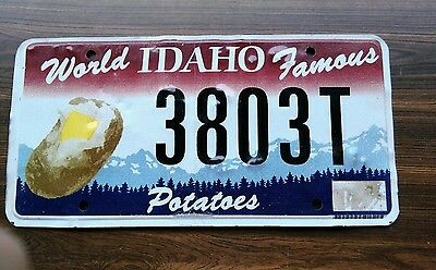 2013 Idaho World Famous Potatoes base license plate with baked potato