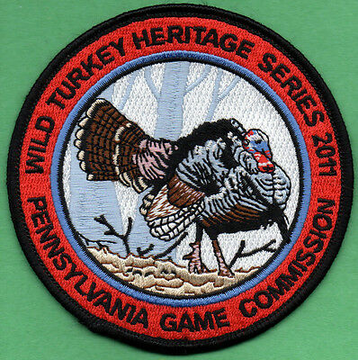 Pa Pennsylvania Game Commission NEW 2011 Wild Turkey Heritage series patch