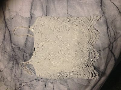 White Lace Top Size 10