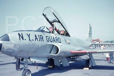 176E Original Slide Lockheed F-94A Starfire NY New York  Air Guard Airshow 1960