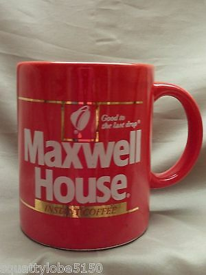 MAXWELL HOUSE INSTANT COFFEE Red Cup Mug Vintage