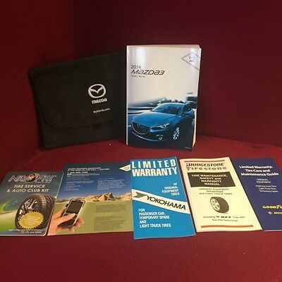 2014 Mazda 3 Owners Manual with supplemental guides and case