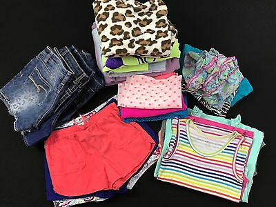 Girls Size 10-12 Spring Summer Shorts Shirts Justice Gap Old Navy Arizona Lot