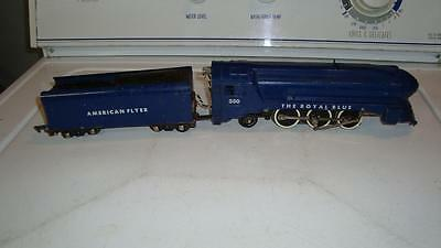 American Flyer 350 Royal Blue Steam Locomotive and Tender Runs Very Well