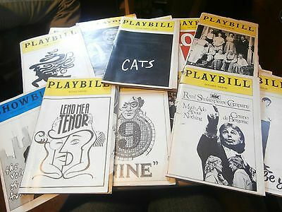 Playbill Program lot of 16 70's 80's and 90's Cats The Wiz Loot Barnum and more