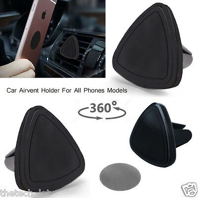 Car Magnetic Air Vent Mount Holder Stand For Apple Samsung Galaxy Cell Phones