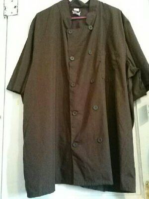 Men's chef shirt brown size 3X short sleeve sixe 4x also