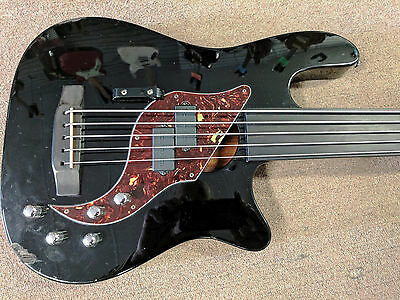 Carvin AC50F 5 String Fretless Acoustic Electric Bass Guitar, Bartolini, Modded